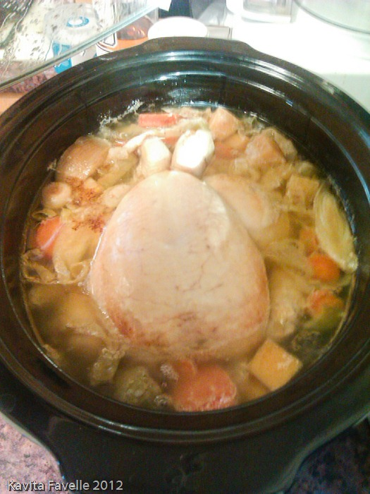 Slow Cooker Poached Chicken » Kavey Eats