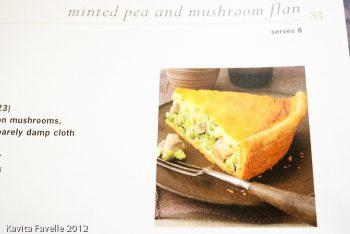 Pea Mushroom Mint Flan