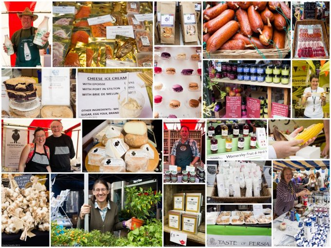 Collage from Abergavenny Food Festival