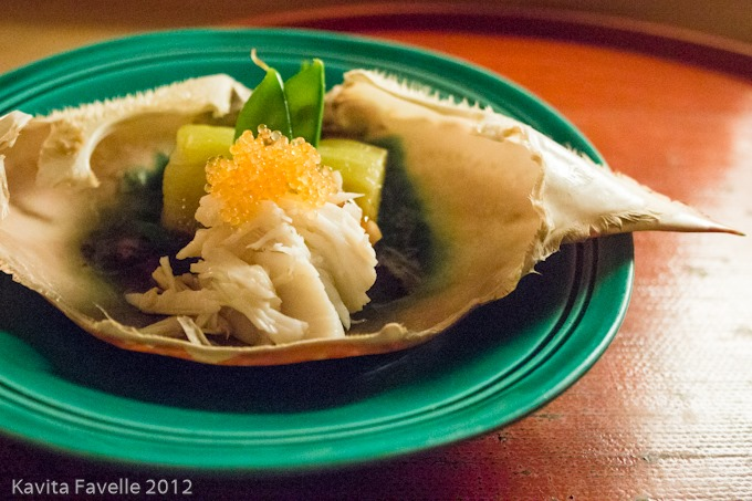 Here s another fine kaiseki you ve gotten me into kavey eats for Flying fish roe