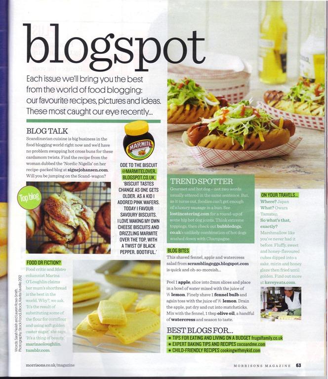 Kavey Eats In Morrisons Magazine