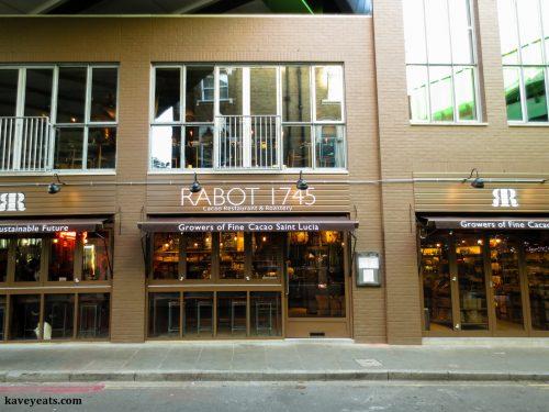 Exterior of Rabot 1745 Restaurant