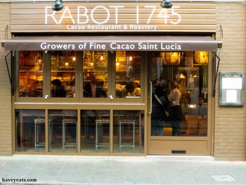 Facade of Rabot 1745 Restaurant
