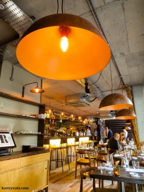 Bar area within Rabot 1745 Restaurant