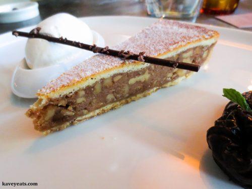 Walnut tart at Rabot 1745 Restaurant