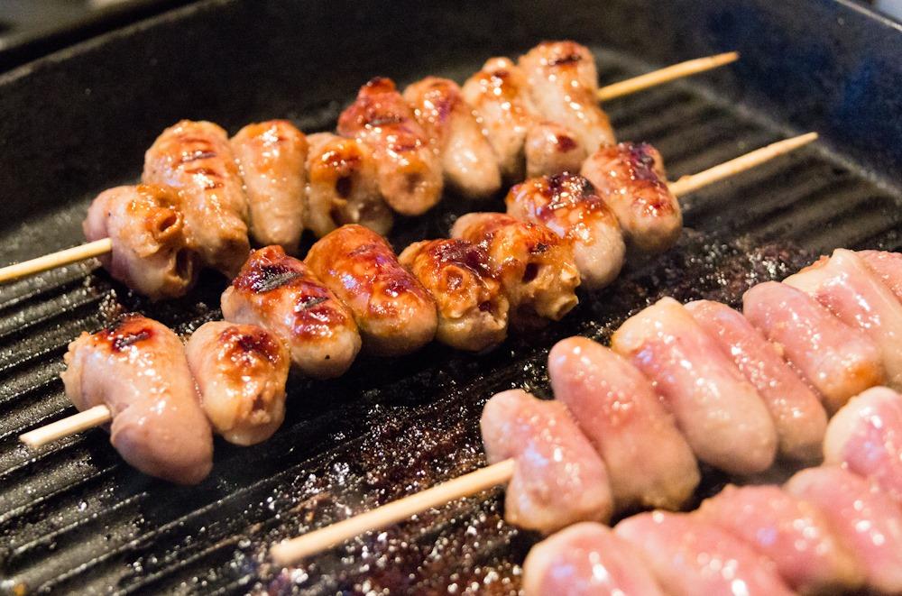 Japanese-style Yakitori Chicken Hearts » Kavey Eats