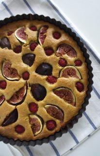 Fig raspberry tart sml