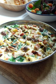 leftover gammon roast frittata