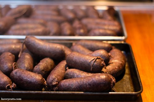 Homemade blood sausages