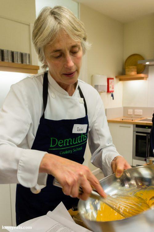 Cookery class tutor Rachel Demuth