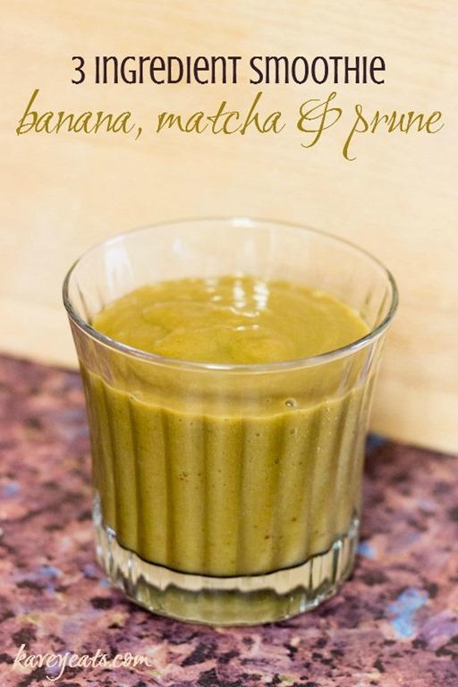 3 ingredient smoothie banana matcha prune kavey eats