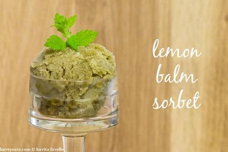 Lemon Balm Sorbet - Kavey Eats - (c) Kavita Favelle -landscape-text