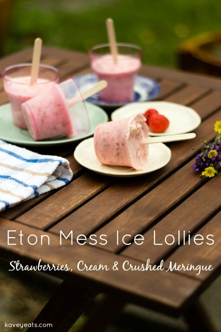 Eton Mess Strawberry Cream Meringue Lollies - Kavey Eats - © Kavita Favelle overtext