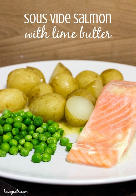 Sous Vide Salmon with Lime Butter - Kavey Eats