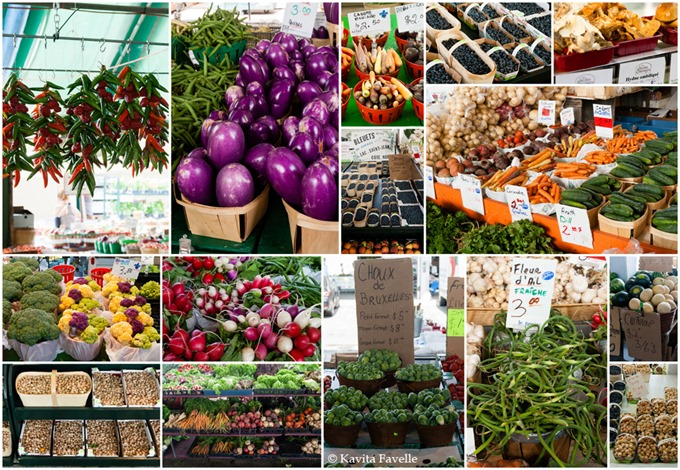Marche Jean Talon Collage - Kavey Eats