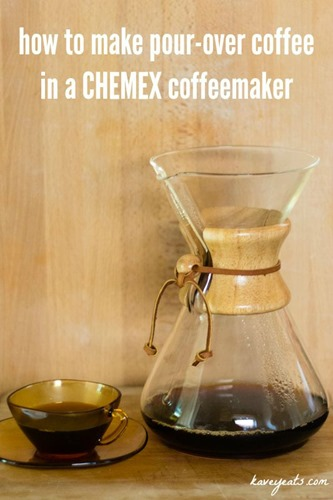 Making Pourover Coffee in a Chemex Coffeemaker - Kavey Eats - © Kavita Favelle - 9093 withtext