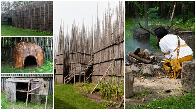 HuronWendatEkionkiestha longhouse collage
