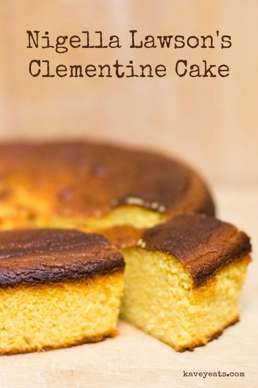 Nigellas Clementine Cake on Kavey Eats © Kavita Favelle (title overlay)