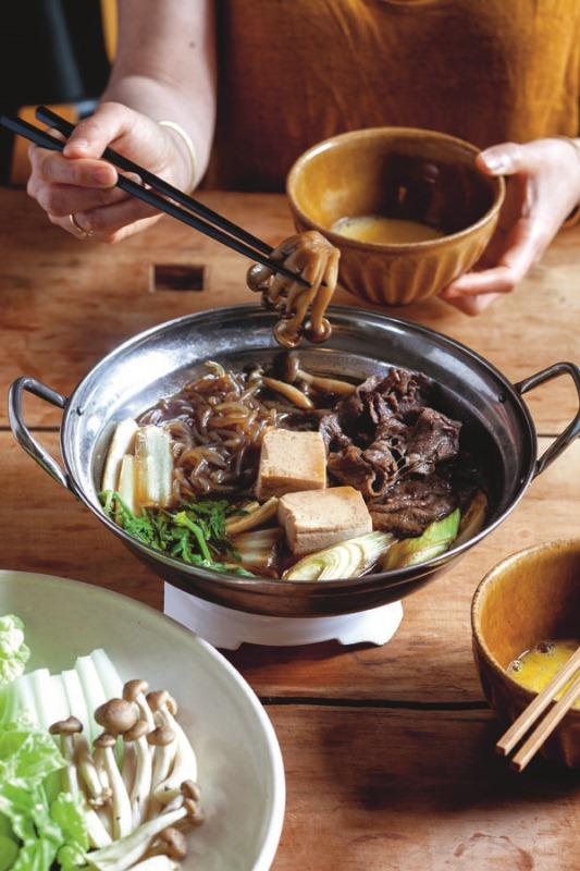 Tokyo Cult Recipes Beef Hot Pot (Sukiyaki)