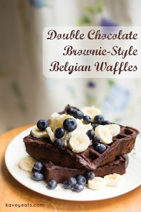 Double Chocolate Brownie-Style Waffles - Kavey Eats (1)
