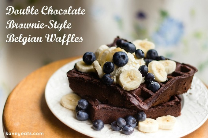 Double Chocolate Brownie-Style Waffles - Kavey Eats (2)