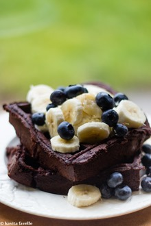 Double Chocolate Brownie-Style Waffles - Kavey Eats-8237