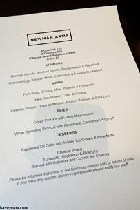 Newman Arms - Kavey Eats -131020
