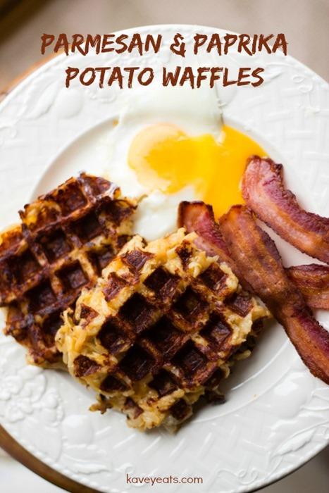 Parmesan Paprika Potato Waffles - Kavey Eats (1)