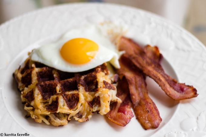 Parmesan Paprika Potato Waffles - Kavey Eats-8254