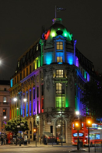 One Aldwych - Multicoloured Lighting