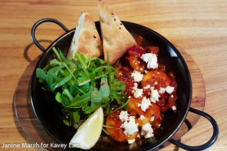 Prawn Saganaki - Giraffe Summer 2016 by Janine Marsh for Kavey Eats - 4