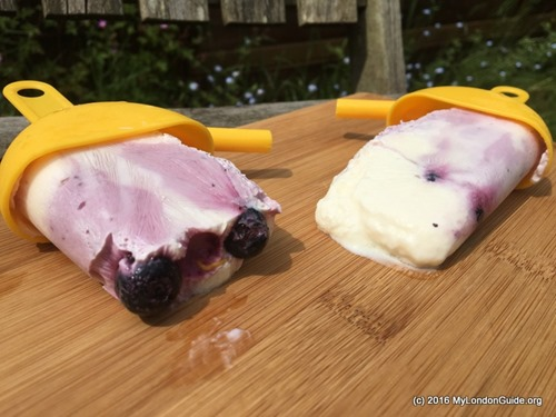 Blueberry Yoghurt Ripple Lollies (May)