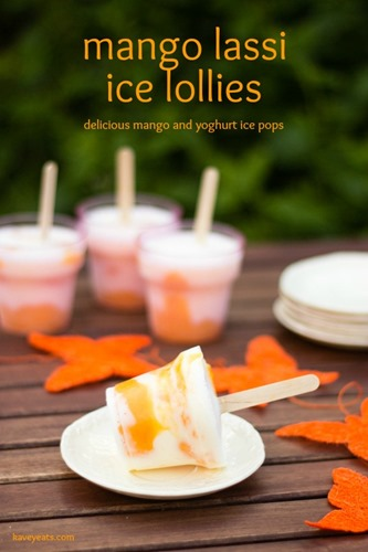 Mango Lassi Ice Lollies on Kavey Eats (titled 1)