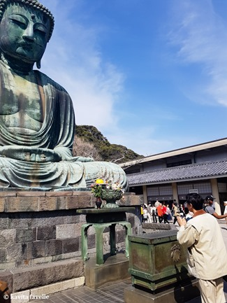 Visiting Daibutsu (Giant Buddha) at Kamakura in Japan. On Kavey Eats-141032