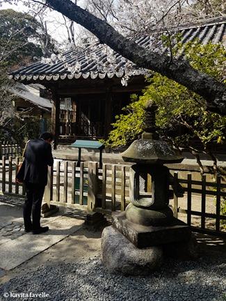 Visiting Daibutsu (Giant Buddha) at Kamakura in Japan. On Kavey Eats-142220