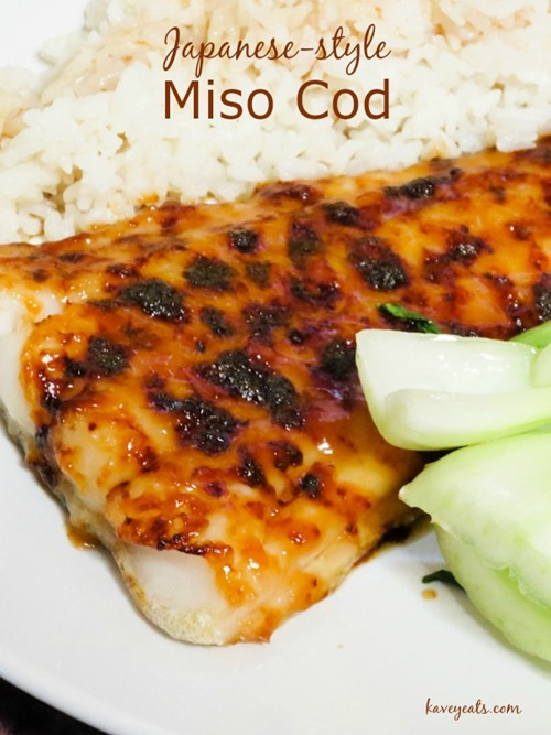 Miso Cod on Kavey Eats (overlay)