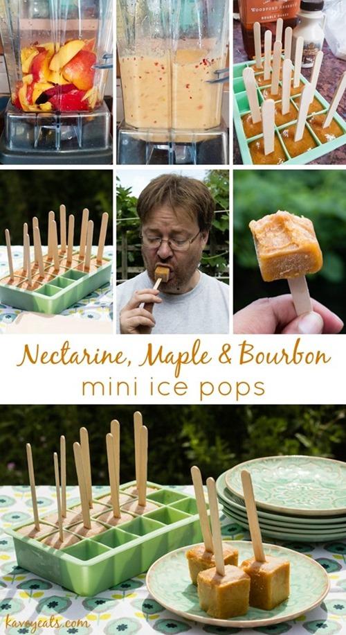 Nectarine Maple Bourbon Mini Ice Pops (Pinterest Tall Pin)