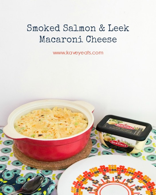 Smoked Salmon and Leek Macaroni Cheese on Kavey Eats 2