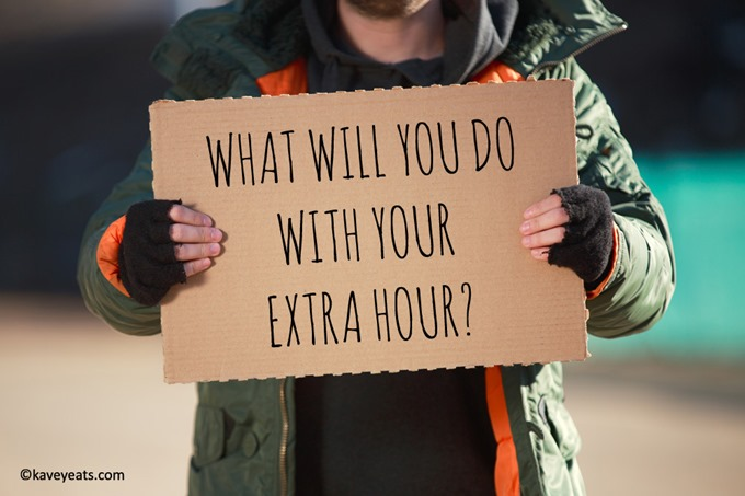 Homeless sign with text and (c)