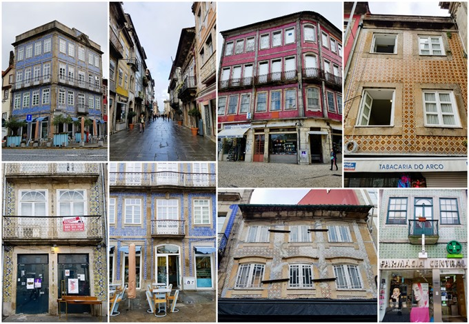 Braga Tiled Buildings Collage