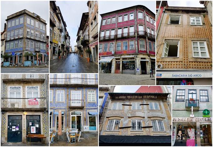 Braga Tiled Buildings Collage