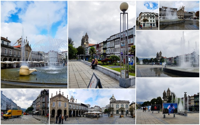 Praca da Republica Square Braga Collage
