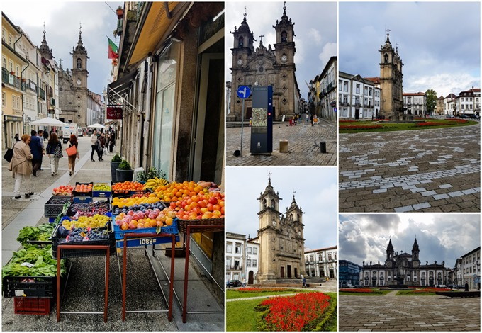 San Marcos and Santa Cruz Churches in Braga Collage
