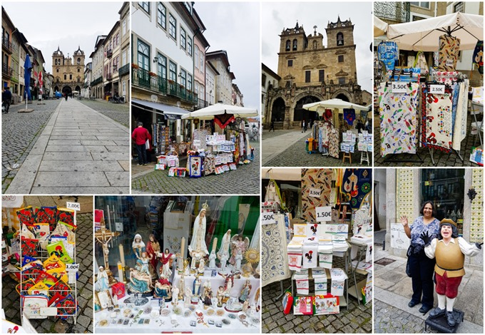 Shopping by Braga Cathedral Collage