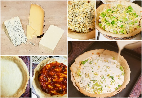 Cheeseboard and Chutney Quiche Collage
