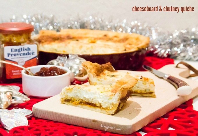 Cheeseboard and Chutney Quiche from Kavey Eats (c) Kavita Favelle (1)