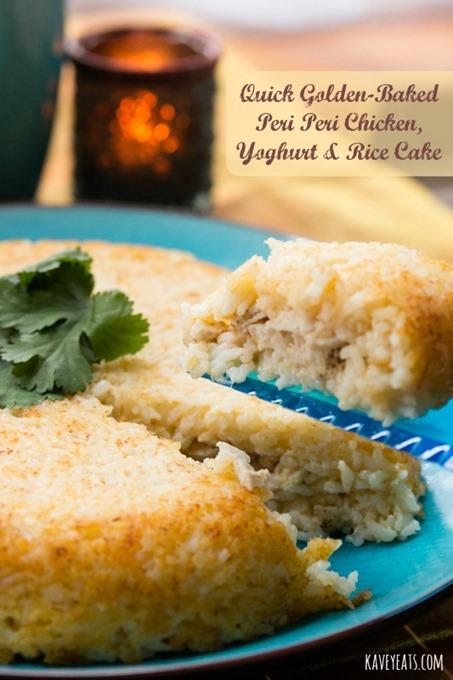 Quick Golden Baked Peri Peri Chicken Yoghurt and Rice Cake - Kavey Eats © Kavita Favelle (text3)