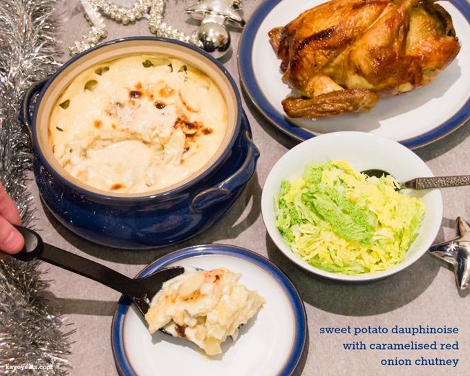 Sweet Potato Dauphinoise with Caramelised Onion Chutney on Kavey Eats by Kavita Favelle (2)