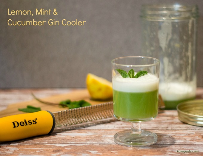 Lemon Mint & Cucumber Gin Cooler on Kavey Eats (Kavita Favelle) - 2