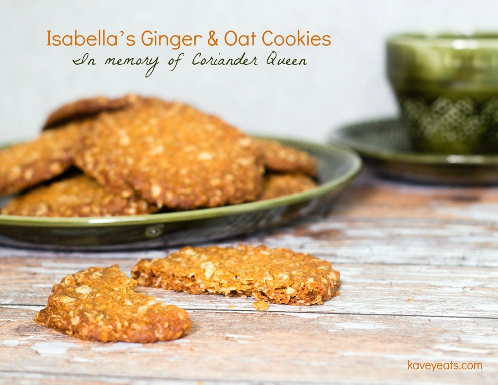 Isabella's Ginger & Oat Cookies | In Memory of Coriander Queen